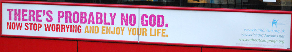 Atheist bus sign