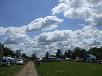 Monday, a beautiful day atCornerstone: Picture of sky and campground