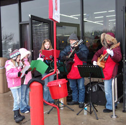 Elgin Walmart on Randall Rd for the Elgin Salvation Army Dec 4th 2010